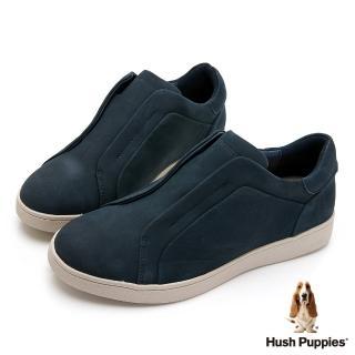 【Hush Puppies】經典款真皮休閒女鞋(深藍)