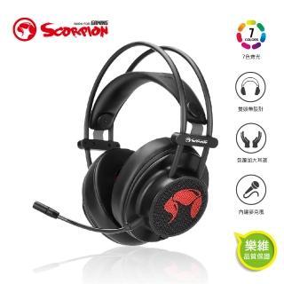 【MARVO魔蠍】歐洲魔蠍 RGB耳罩式7.1聲道耳機USB HG9055(7.1虛擬環繞音效 低音震撼)