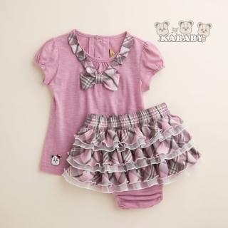 【金安德森】KA音樂紗上衣配粉格蛋糕裙套(共二色)