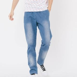 【PLAYBOY】刷白修身牛仔長褲(藍色)