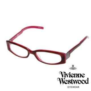 【Vivienne Westwood】英倫經典土星光學眼鏡(桃紅 VW200_04)