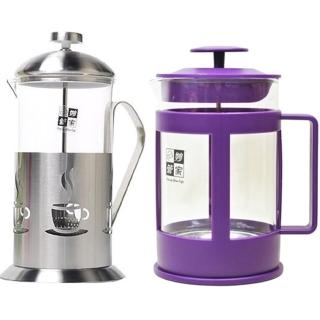 【妙管家】700ml不銹鋼玻璃壺+800ml玻璃壺(2入隨機)