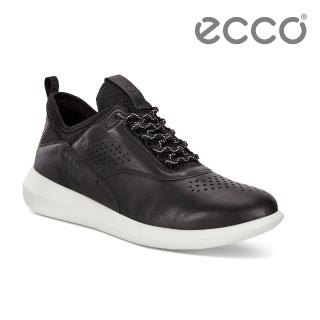 【ecco】SCINAPSE W 透氣舒適運動休閒鞋 女(黑 45050301001)