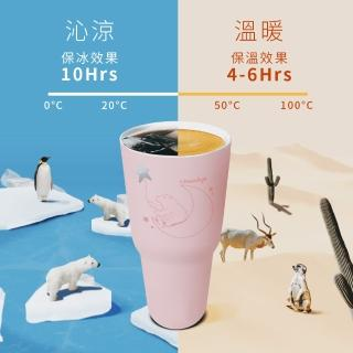 【IKUK 艾可】陶瓷冰霸杯900ml(保冰效果10hrs)