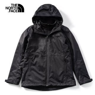 【The North Face】The North Face北面女款黑色防水透氣三合一外套|4NCZKX7
