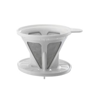 【Tiamo】極細濾網附轉接盤-白色(HG2319)