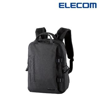 【ELECOM】帆布多功能大容量後背包II - M-黑(DGB-S038BK)