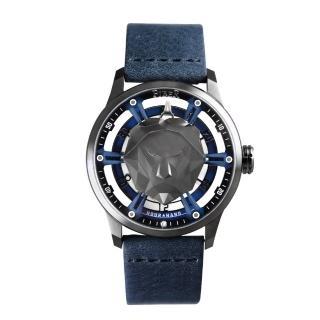 【FIBER 法柏】萬獸之王-立體空間機械腕錶 現代摩登藍款