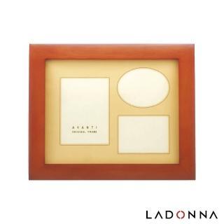 【LADONNA】AVANTI 8x10弧面木質相框 褐色(DF01-06-BR)