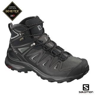 【salomon】中筒登山鞋 GORETEX 防水 女 X ULTRA 3(磁灰/黑/石碑灰)