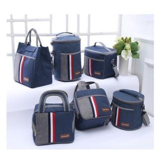 【Bunny】加厚保溫保冰手提單肩防水牛津布便當野餐袋