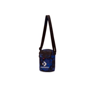 【CONVERSE 旗艦館】POLY PRINTS CROSS BODY 2 CAMO 側背包 男女 迷彩藍(10008300-A01)