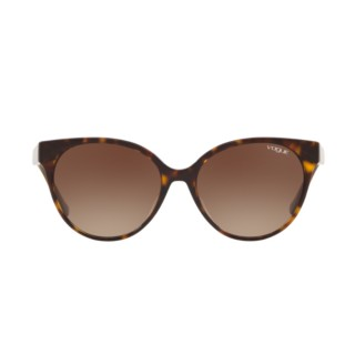 【VOGUE】太陽眼鏡貓眼造型玳瑁框褐色鏡片(5246SF-W6561)