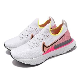 【NIKE 耐吉】慢跑鞋 React Infinity Run 女鞋 輕量 透氣 舒適 避震 路跑 健身 白 粉(CD4372-004)