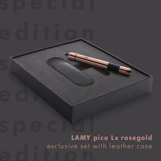 【LAMY】PICO口袋筆系列原子筆筆套禮盒奢華玫瑰金特別限量版(281)