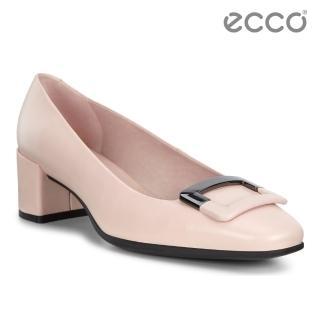 【ecco】SHAPE 35 SQUARED 氣質方頭高跟鞋 女(玫瑰粉 29053301118)
