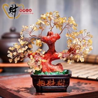 【財神小舖】花開富貴-開運黃水晶招財樹(含開光)
