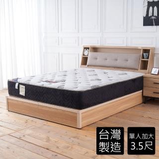 【時尚屋】伊蒂絲涼感五段式3.5尺加大單人獨立筒床墊BD81-15-3.5(免運費 免組裝 台灣製)