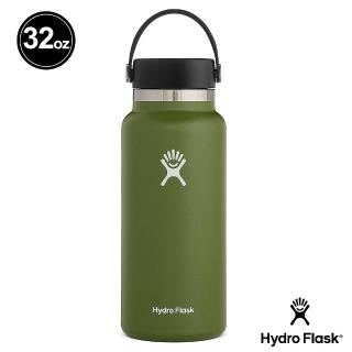 【Hydro Flask】寬口霧面 32oz/946ml 不鏽鋼保冷 保溫瓶(橄欖綠)