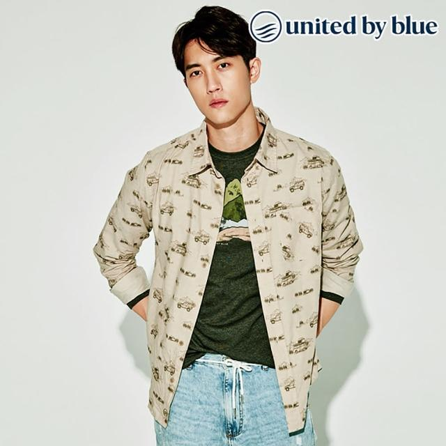 【United by Blue】男棉麻彈性襯衫 101-075 Outpost Button Down(有機棉、環保、無化學物)