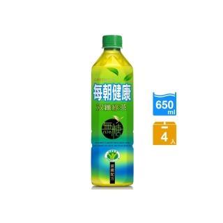 【每朝健康】雙纖綠茶650ml(4入)