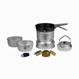 【Trangia】Storm Cooker 27-4 UL 超輕鋁風暴酒精爐套鍋組含超輕鋁壺(Trangia瑞典戶外野遊用品)