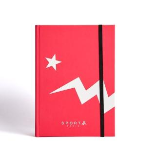 【agnes b.】Sport b.粉色恐龍空白筆記本