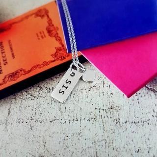 【DoriAN】手作純銀 SIS好姊妹925純銀項鍊(附精美包裝組合及附純銀保證卡)