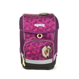 【大將作】德國 Ergobag CUBO-Single 硬殼書包-紫色花朵(兒童成長護脊書包)