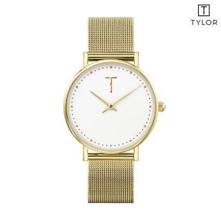 【TYLOR】白面金框金色米蘭帶錶(TLAF006)