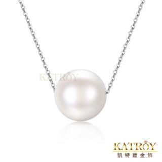 【KATROY】天然珍珠 8.5-9.0 mm 圓潤天然珍珠項鍊 PA20001(白色珍珠)