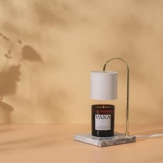 【Vana Candles】香氛蠟燭暖燈 薰香燈 融蠟燈 - 白大理石檯款 可調光(大)