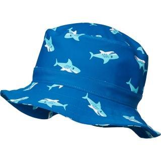 【德國Playshoes】嬰兒童抗UV防曬水陸兩用漁夫帽-鯊魚(護頸遮脖遮陽帽泳帽)