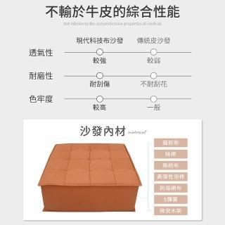 防疫必備 居家辦公【IHouse】巴斯 現代風 舒適貓抓布 小沙發/懶人/休閒沙發