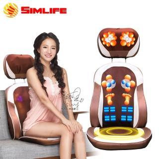 【SimLife】溫熱版120顆按摩頭椅墊(按摩椅墊/按摩墊/肩頸按摩/SimLife)