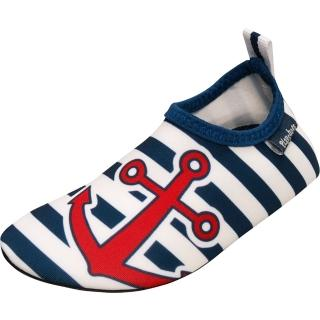 【德國Playshoes】抗UV水陸兩用沙灘懶人童鞋-海軍風(認證防曬UPF50+兒童戶外涼鞋雨鞋運動水鞋)