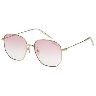 【VEDI VERO】淺色鏡片 IU代言 太陽眼鏡(金配粉)