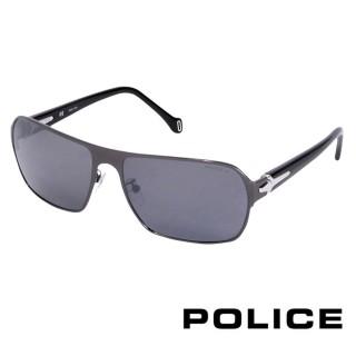 【POLICE】義大利經典都會時尚太陽眼鏡(黑色  POS8769-568P)
