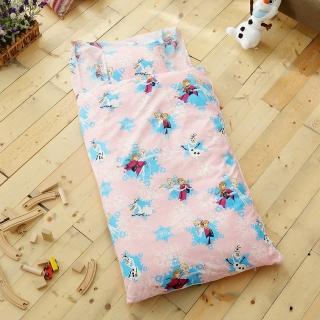 【HO KANG】雪紡棉冬夏鋪棉兩用兒童睡袋(舞動冰雪粉)