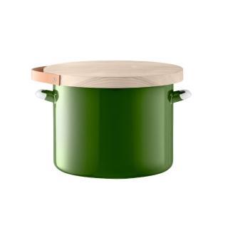 【LSA】英國LSA 木蓋琺瑯儲物罐 綠、直徑31公分(風格時尚餐具/夏馬城市生活)