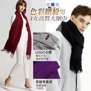 【WINCEYS】色彩繽紛男 &女高質感大圍巾(13色)