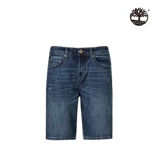 【Timberland】男款刷色藍牛仔短褲(A2BF3AF4)
