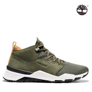 【Timberland】男款深綠色網面運動鞋(A2BRJA58)