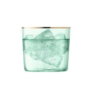 【LSA】英國LSA 清透霓光玻璃水杯2入組  瓜綠(風格時尚設計餐具/夏馬城市生活)