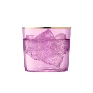 【LSA】英國LSA 清透霓光玻璃水杯2入組  玫瑰粉(風格時尚設計餐具/夏馬城市生活)