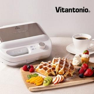 【Vitantonio】小V多功能計時鬆餅機(雪花白)