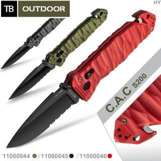 【TB OUTDOOR】C.A.C S200半齒刃折刀/G10柄