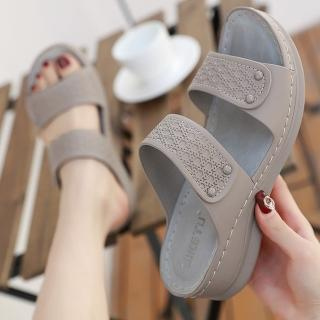 【LN】現貨 柔軟厚底坡跟防滑涼拖鞋(涼鞋/拖鞋/坡跟/厚底)