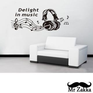 【Mr.Zakka】時尚居家創意風格DIY可移式壁貼(時尚耳機)