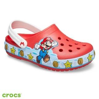【Crocs】童鞋 趣味學院超級瑪利歐酷閃小克駱格(206438-8C1)